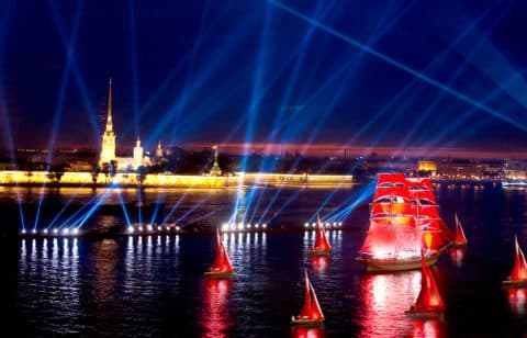 """Urlaub """"Alye Parusa"""" grüßen aus dem Schiff (von Gast. Moskau)"""