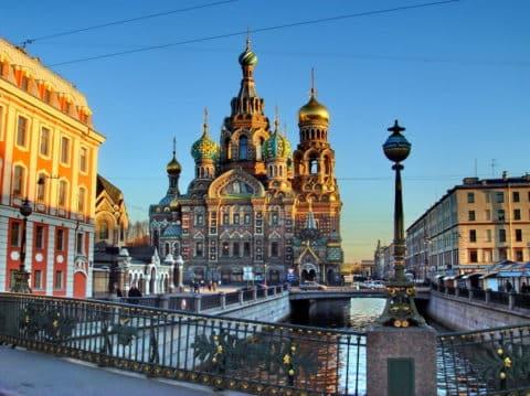 Мосты в историческом центре на Канале Грибоедова